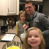 Making banana bread with our nieces on a snowy day, youhou!
