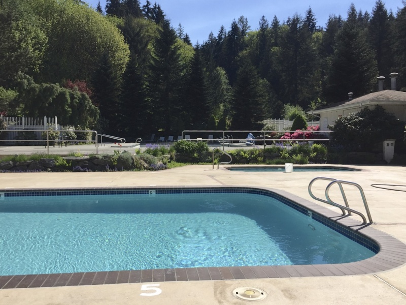 We love our campground pool! So peaceful and perfect on warm summer days.