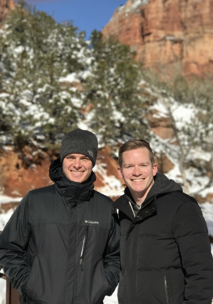 Erik & Jay in Zion National Park