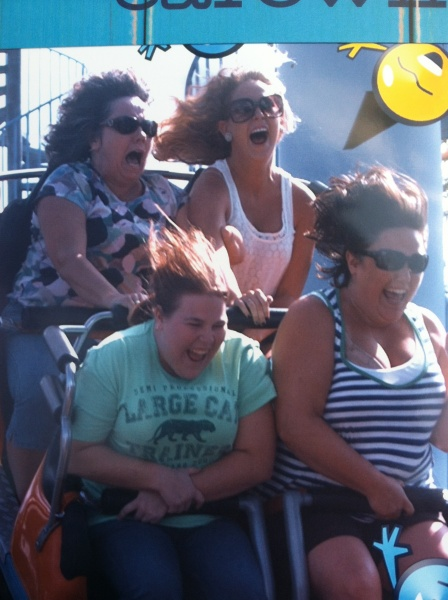 Aunt Linda was a little scared!  My cousins and I were having a blast!