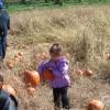 Pumpkin picking with Kayla, Laura