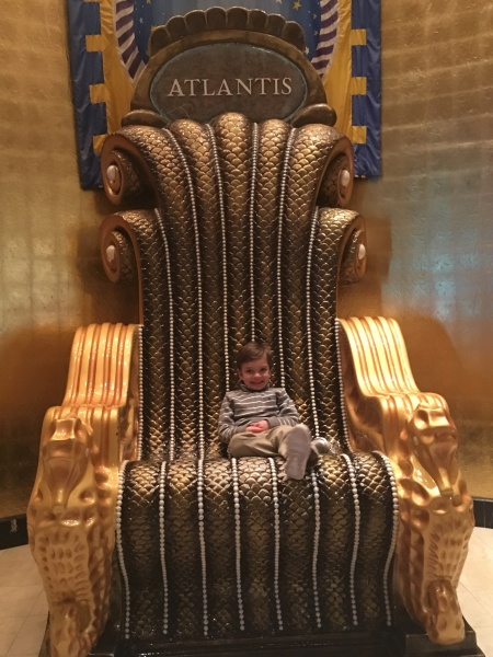 The King on his throne...