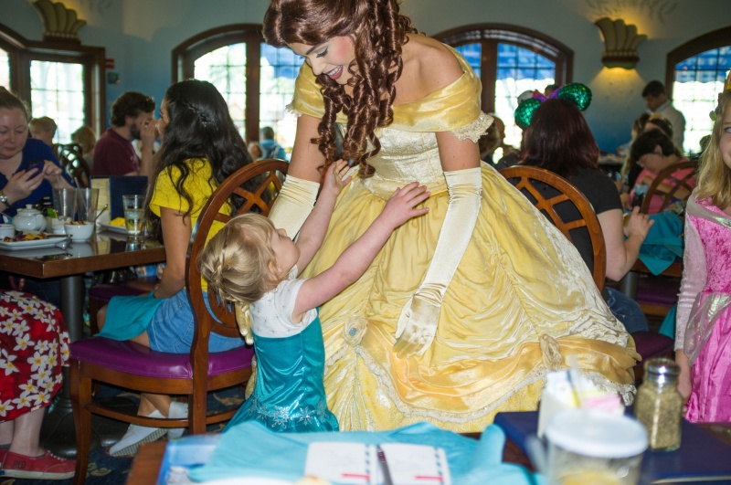 The princess breakfast may have been the most magical part for little Miss Piper.