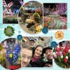 Flower Show with the Family (Loyd front left, Maria center)