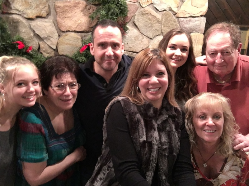 With Jim's family