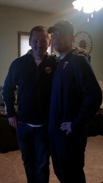 Cody & Jeremy rocking Twins attire! Excited for baseball season!