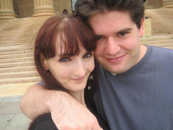 Karen & Aaron with open hearts!