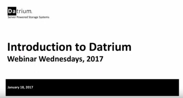Introduction to Datrium – 1/18/17