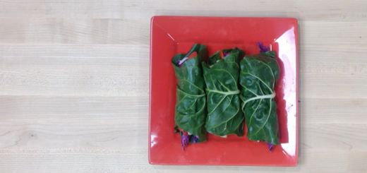 "Raw ""Tuna"" Collard Wraps"