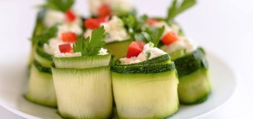 Zucchini Rolls Stuffed With A Sunflower Seed Pate