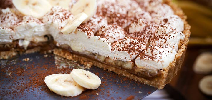 Chocolate Banana Pie with Coconut Whipped Cream