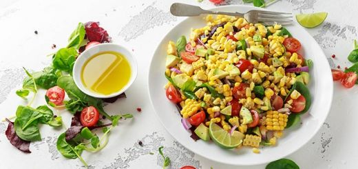 BBQ Corn Salad with Coleslaw