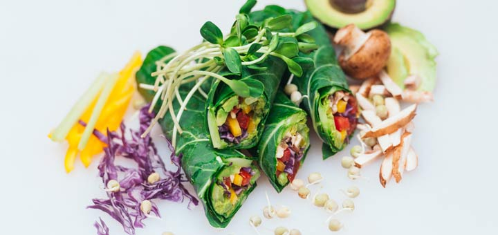 Collard Wraps With An Herbed Cashew Spread