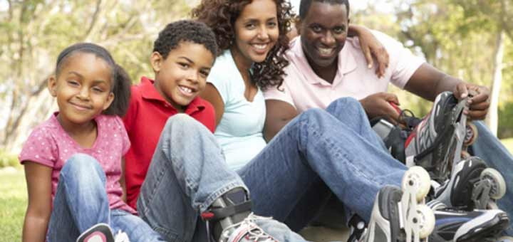 black-family-rollerblades