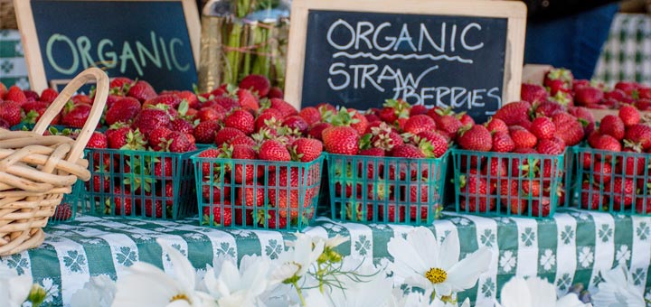 organic-strawberries-on-table