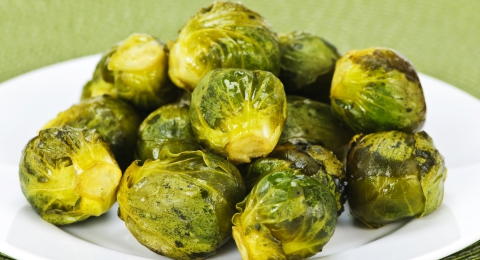 Roasted Brussels Sprouts With A Peppery Kick