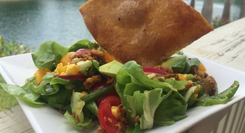Vegan Seitan Taco Salad Recipe