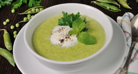 Vegan Spring Pea Soup Recipe