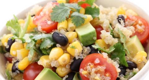 Quinoa Salad with Black Bean and Avocado