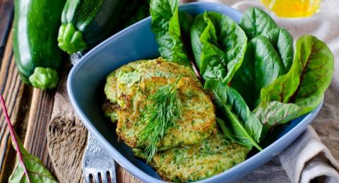 Sesame Zucchini Fritters