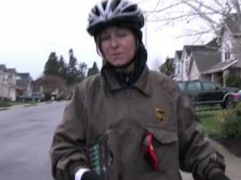 UPS Delivery By Bike in Salem Oregon!