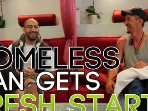 Homeless Man Getting Fresh Start