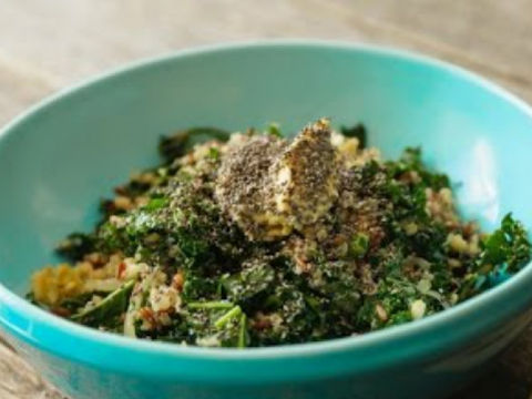 How to make Tri-Grain Kale Hipster Salad Bondi Harvest