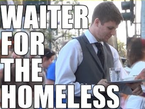 Waiter For The Homeless