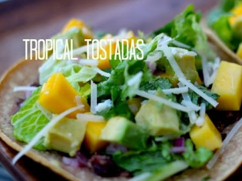Healthy Tropical Tostada Recipe