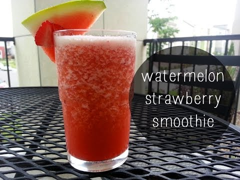 Watermelon Strawberry Smoothie Recipe