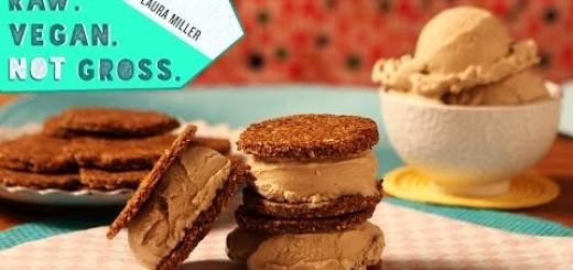 Raw Vegan Ice Cream Sandwiches