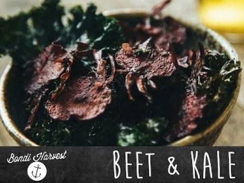 How to Make Beet and Kale Chips