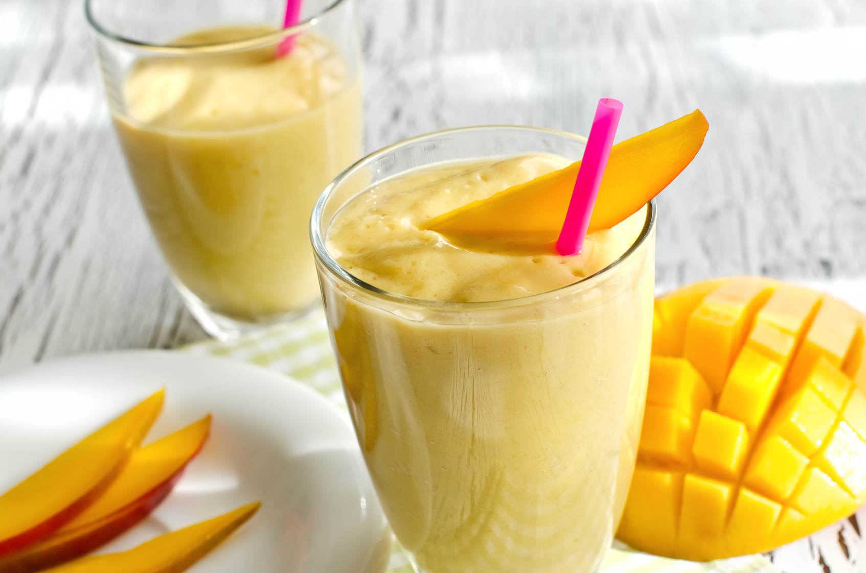 Carrot, Mango, and Herb Smoothie