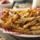 Healthy Organic Jicama Fries with Salt and Pepper