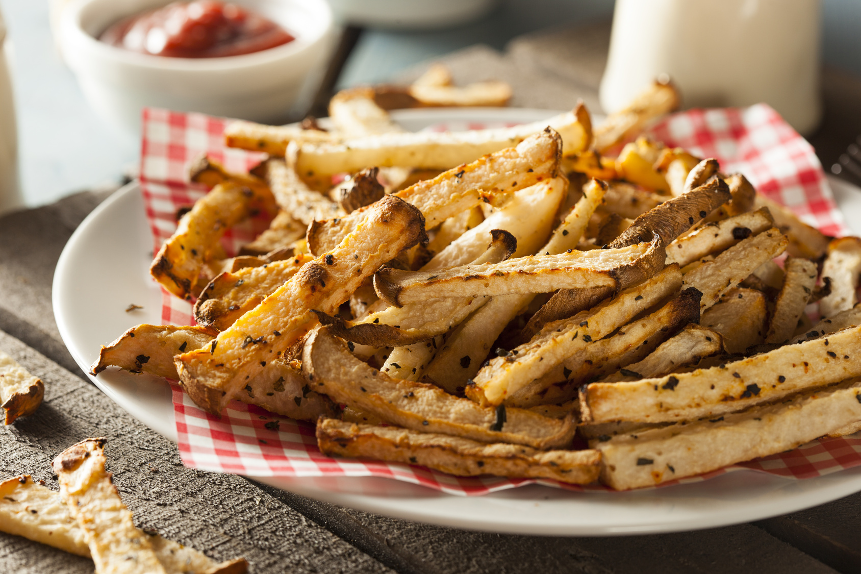 Healthy Organic Jicama Fries with Salt and Pepper