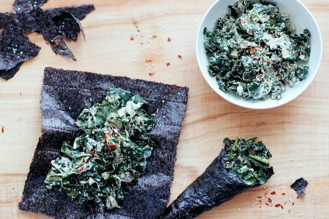 Video: Kale Caesar Salad Nori Wraps