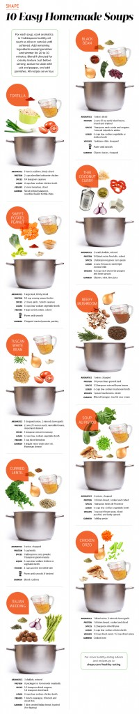 Easy visual ways to make soup