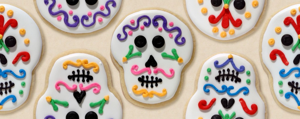 These Day of the Dead cookies contain an important reminder: sugar can kill you.