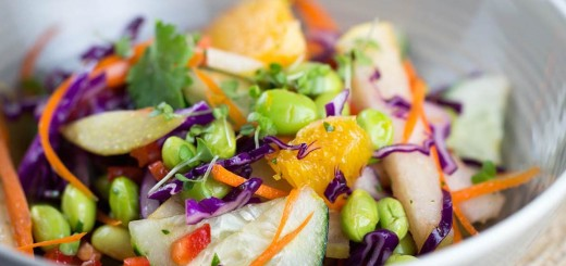 Asian Pear Salad with Orange Ginger Dressing