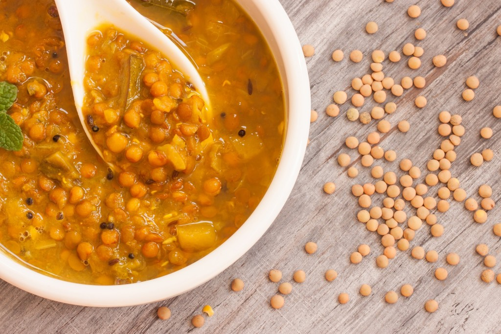 Lentil soup close up