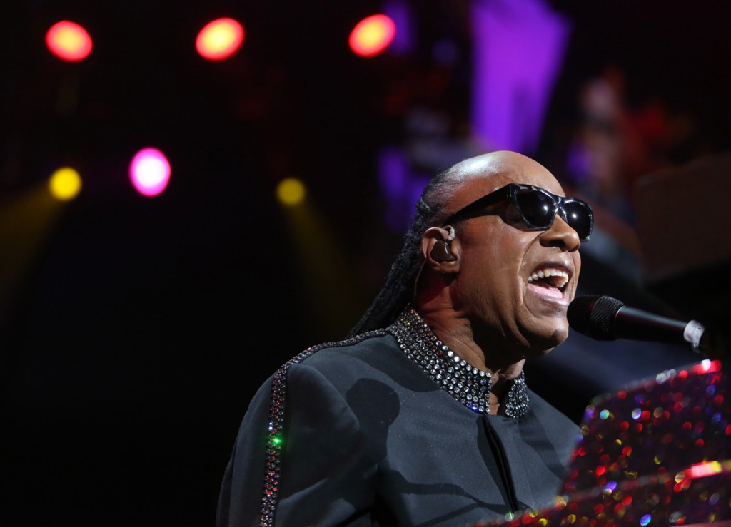 Stevie Wonder at the Value City Arena April 1, 2015. (Dispatch photo by Eric Albrecht)