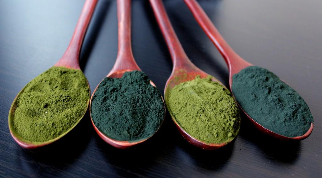 Green Spirulina and Chorella powder