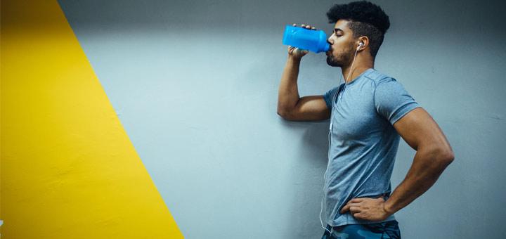 man-drinking-protein