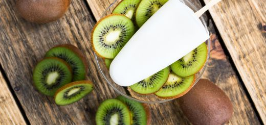 Coconut Kiwi Pops