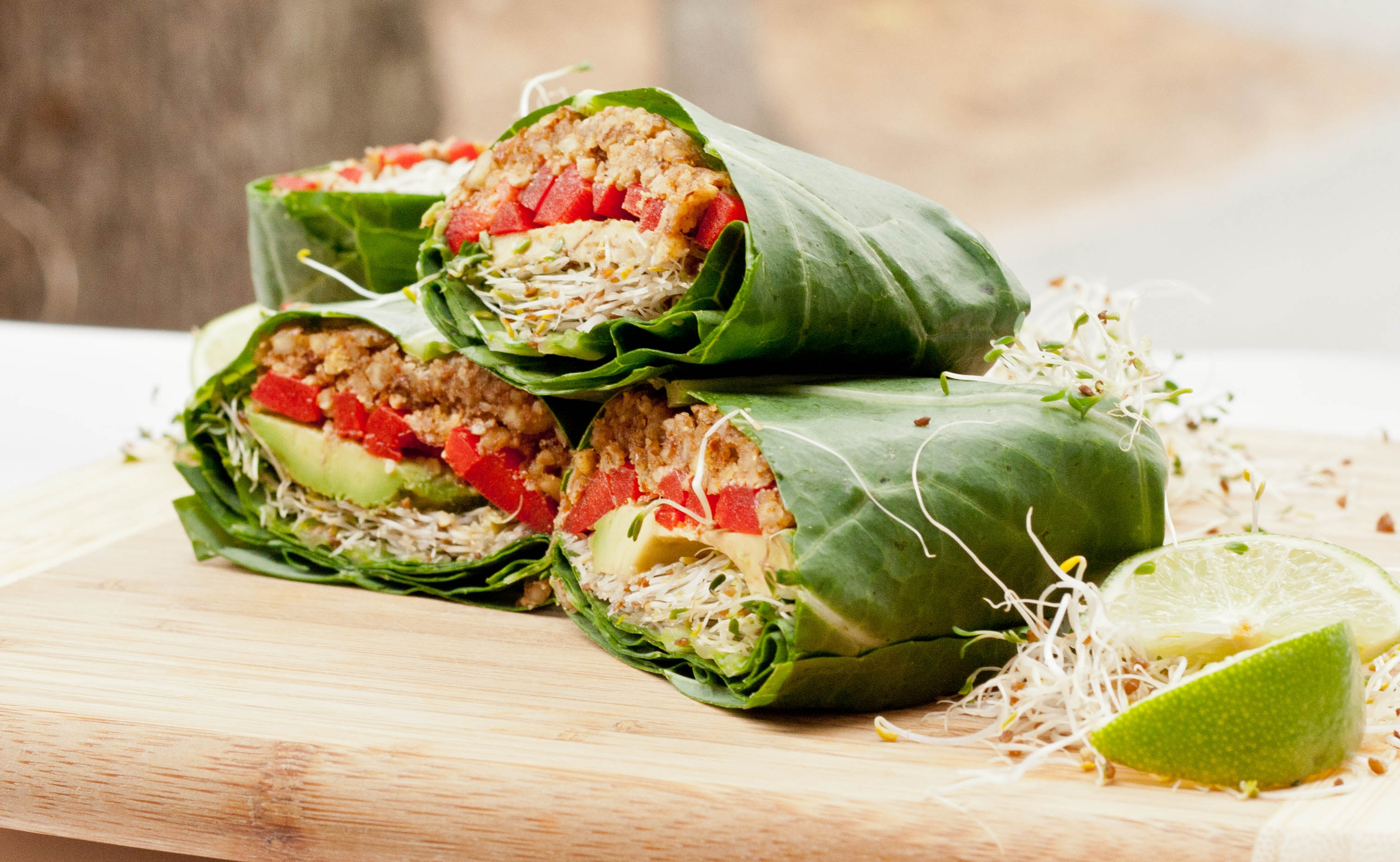 Thai Tempeh Collard Greens Wrap | Dherbs - Herbal Supplements, Herbal Remedies, Natural Healing ...