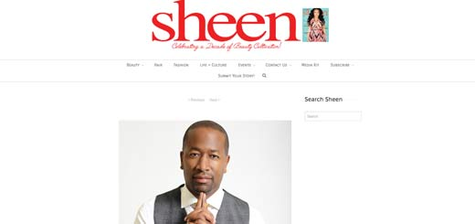 Dherbs CEO A.D. Dolphin in Sheen Magazine