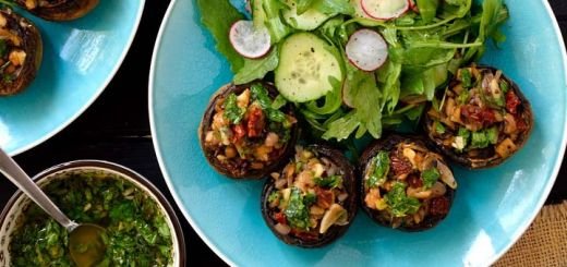 Stuffed Mushrooms With A Parsley Lemon Dressing
