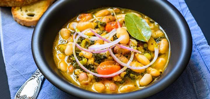 Kale, Butternut Squash, And White Bean Stew