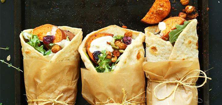 30 Minute Vegan Thanksgiving Wraps