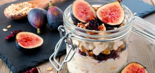 Maple, Fig, And Tahini Overnight Oats